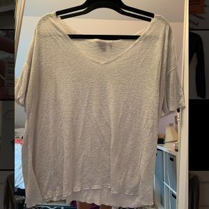 Urban outfitters ripped white shirt